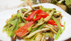 What to cook for dinner tonight: Stir-fried Agrocybe cylindracea with celery