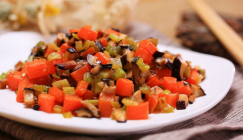 Sauteed Shiitake mushroom with celery and carrot